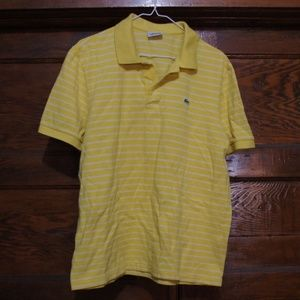 Yellow Striped Lacoste Polo size 6